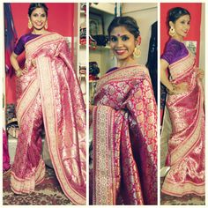 Ishqya My love for old vintage saree is well known to you all. This pink Benarsi is one of them, few months ago I was in a small village where I picked this up from a weaver directly , adding the embellish border and the gold back patti just enhanced the magic! For purchases email me at ayushk@hotmail.co.uk or what's app me on 00447840384707