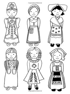 The Girls' Holiday Colouring Book (Colouring Books) Drawing For Kids, Art For Kids, Adult Coloring Pages, Coloring Books, Harmony Day, International Craft, Halloween Math, Kids Around The World, World Crafts