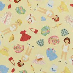 Coleção Paper Dolls - Tecidos Importados 100% Algodão para Patchwork - ref.: PDO5193-YEL | Flickr - Photo Sharing!