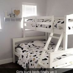 Sienna Rose Twin over Full Bunk Bed Full Size Bunk Beds, Bunk Bed Sets, Twin Bunk Beds, Kid Beds, Staircase Bunk Bed, L Shaped Bunk Beds, Bunk Beds With Drawers, Boys Room Decor, Girl Room