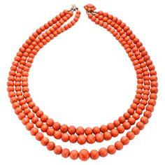 Antique Coral Necklace | 1stdibs.com