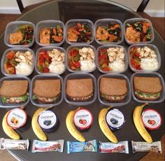 Meal prep - breakfast, lunch, dinner and snacks.