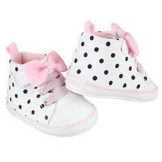 df89079ac042fd Girls Polka Dot Canvas High-Top Sneaker