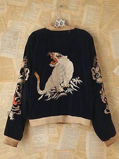 #WANT - Vintage Reversible Embroidered Bomber Jacket