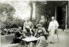 Manoir de la Cour-Brûlée, Trouville: Marcel visiting the the rented villa of Emile and Geneviève Straus (1892). The next year, 1893, Straus' own villa, Le Clos des Mûriers, (http://www.flickr.com/photos/canecrabe/5729334548/in/photostream)  was completed.