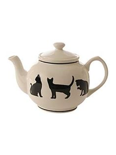Silhouette Cats teapot