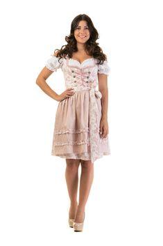 a48ad577e98810 Dirndl Trachtenkleid Damen ELSA in Rosa Set Bluse und Schürze Oktoberfest  Wiesn Dirndlkleid Tracht (affiliate)