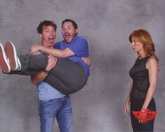 in which John Barrowman sweeps Wil Wheaton off his feet (while Anne Wheaton watches sadly)