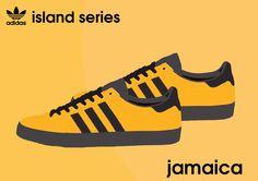 More Jamaica adiart - 2015 Island Series Adidas Og, Adidas Retro, Vintage Adidas, Adidas Soccer Shoes, Adidas Sneakers, Casual Art, Casual Shoes, Adidas Originals Jeans, Sergio Tacchini
