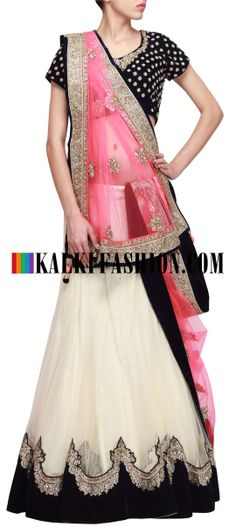 Buy Online from the link below. We ship worldwide (Free Shipping over US$100) http://www.kalkifashion.com/cream-lehenga-featuring-with-kundan-embroidery-only-on-kalki.html Cream lehenga featuring with kundan embroidery only on Kalki
