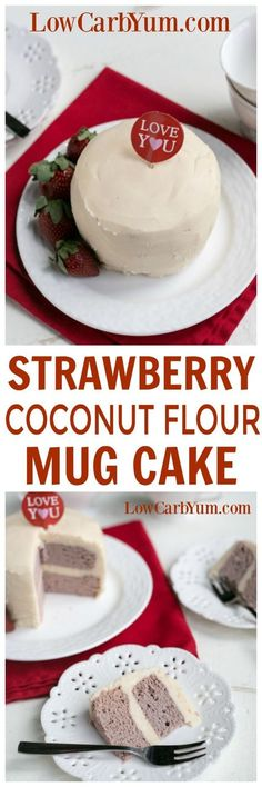 Baking a low carb can be quick and easy. Try this strawberry coconut flour mug cake that bakes in only a couple minutes using the microwave. Low Carb Sweets, Low Carb Desserts, Low Carb Recipes, Diabetic Desserts, Cobbler, Paleo Dessert, Dessert Recipes, Coconut Flour Mug Cake, Fudge