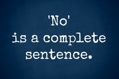 I am learning to say no--what about you?