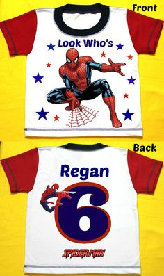 Spiderman Birthday Boy Shirt Personalized with by FantasyKidsParty