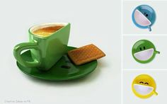 do enjoy Cup of coffee with your toast, take a look at these simple Creative coffee mugs Designs. Interesting way to have a cup of coffee i. Cute Coffee Cups, I Love Coffee, Coffee Time, Morning Coffee, Tea Time, Happy Coffee, Tea Mugs, Coffee Mugs, Drink Coffee