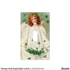 Vintage Irish Angel light switch cover
