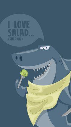 Funny Shark Illustration iPhone 6 Wallpaper.jpg 750×1,334 pixels