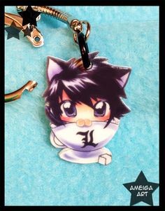 L Death Note Keychain by AmeigaArt on Etsy, $6.00 OH MY GOD SO CUTE!!!