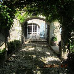 provence - shaded/dappled light garden path