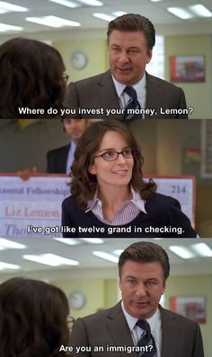 "That time when Jack gave Liz financial advice. | 30 Best Jokes From ""30 Rock"""