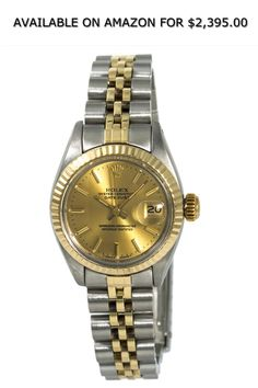 2d675a46cc9 Rolex Datejust Automatic-self-Wind Female Watch 6917 (Certified Pre-Owned). Gold  Watches ...