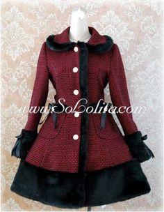 manteau gothic lolita rouge coat