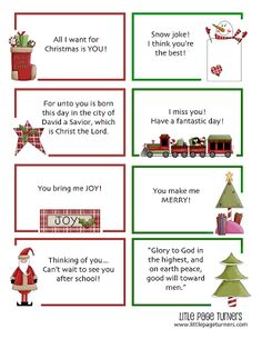 lunchbox notes for christmas
