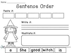 Sentence Order and other super fun Halloween activities for K-1!