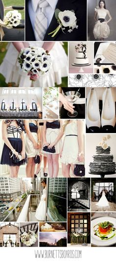 black and white wedding inspiration http://burnettsboards.com/category/blacks/