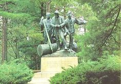 Lumbermen's Monument along the Au Sable River, MI .... doesn't it look like the guy in the middle is texting? lol