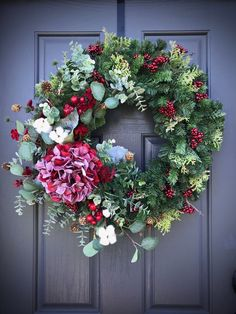 Wreaths Christmas and Winter Wreaths Berry and Bright