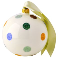 """Polka Dot"" Polka Dot Glass #Bauble at Emma Bridgewater http://www.emmabridgewater.co.uk/invt/1pod010487"
