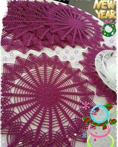 Thread Crochet, Filet Crochet, Crochet Doilies, Knit Crochet, Doily Patterns, Cross Stitch Patterns, Crochet Patterns, Crochet Kitchen, Fabric Yarn
