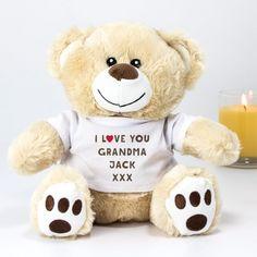 Personalised Birthday Gifts for Grandma Personalised Gift Shop, Personalised Teddy Bears, Personalized Birthday Gifts, Birthday Gifts For Grandma, Grandma Gifts, Gifts For Pet Lovers, Pet Gifts, Retro Sweet Hampers, Teddy Bear Hug