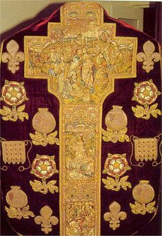 Goldwork embroidery - mid-16th century chasuble