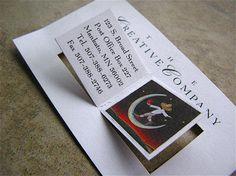 Book-kinda Business Card.
