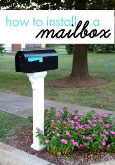 Don't settle for boring. Paint your mailbox flag in your favorite color. Be creative: Create a flag that can match the color of the flowers, color of tile/ bricks that maybe around mailbox, or change it to the color of shutters to match the home! Diy Mailbox, Mailbox Post, Mailbox Ideas, Outdoor Projects, Home Projects, Outdoor Decor, Outdoor Ideas, Mailbox Landscaping, Gardens