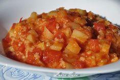 Ghiveci de vara   Retete culinare cu Laura Sava Romanian Food, Romanian Recipes, Salsa, Beans, Mexican, Vegetables, Ethnic Recipes, Drink, Diet