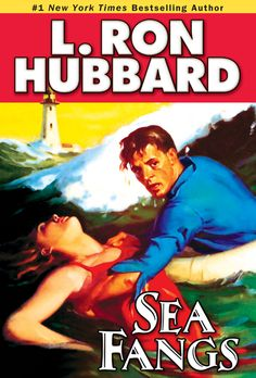 Sea Fangs by L. Ron Hubbard  Bob Sherman has a strength of character and purpose that would make  Spencer Tracy proud. But signing on to the crew of the yacht Bonito,  he'll need every ounce of his strength and courage to overcome the  forces arrayed against him—in Sea Fangs.He'll take on the forces  of nature—a hurricane smashing into the boat off the Venezuelan coast.  He'll stand up to the forces of ignorance—Bonito's incompetent captain.  He'll defy...