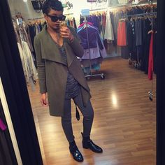 This just made me want an Olive peacoat. Pinterest: LNJisSHE