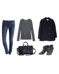 """Sans titre #100"" by unejeunedemoiselle ❤ liked on Polyvore featuring MiH Jeans and Louis Vuitton"