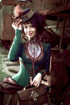 Model & Design : Alice Maximova Leather accessories : Andrew Kanounov #Fashion #Steampunk