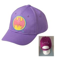 Toddler Girls' Batgirl Baseball Hat - Purple  Personalized by CACBaskets on Etsy