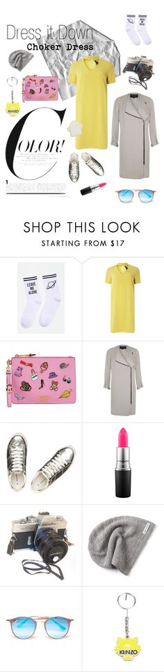 """""""Choker it Down✌️"""" by valerie-grooten ❤ liked on Polyvore featuring Dorothy Perkins, Moschino, River Island, MAC Cosmetics, Converse, Ray-Ban, Kenzo and Stoney Clover Lane"""