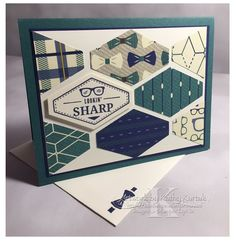 "Faithful INKspirations: Lookin' Sharp is made with Stampin' Up's ""Truly Tailored"" stamp set and other product from the True Gentleman Suite."