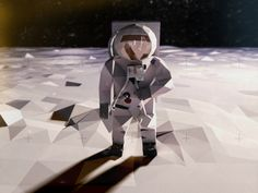 Buzz Aldrin Low Poly by Thomas van den Heuvel