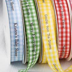 Personalized Gingham Ribbon by Beau-coup