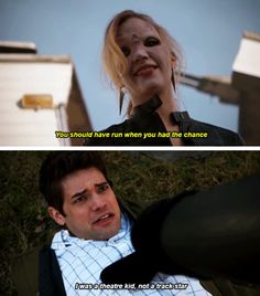 At least Jack Kelley knew how to run, theater kid Watch Supergirl, Supergirl Dc, Supergirl And Flash, Theatre Jokes, Theatre Nerds, Music Theater, Jeremy Jordan Supergirl, Jack Kelley, Flash Funny