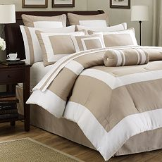 Hotel style bd on pinterest bedding hotels and bedding for Hotel style comforter