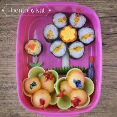 Day 13: September 19, 2014  Lunch:  Japanese rolls with egg and veggies Melon balls
