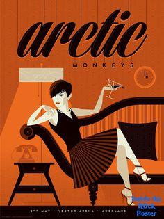 Arctic Monkeys Auckland New Zealand Tom Whalen Poster World Premiere Exclusive http://ift.tt/1i5ey6Z @RockPosterFrame